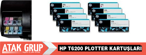 HP t6200 Plotter kartuşu